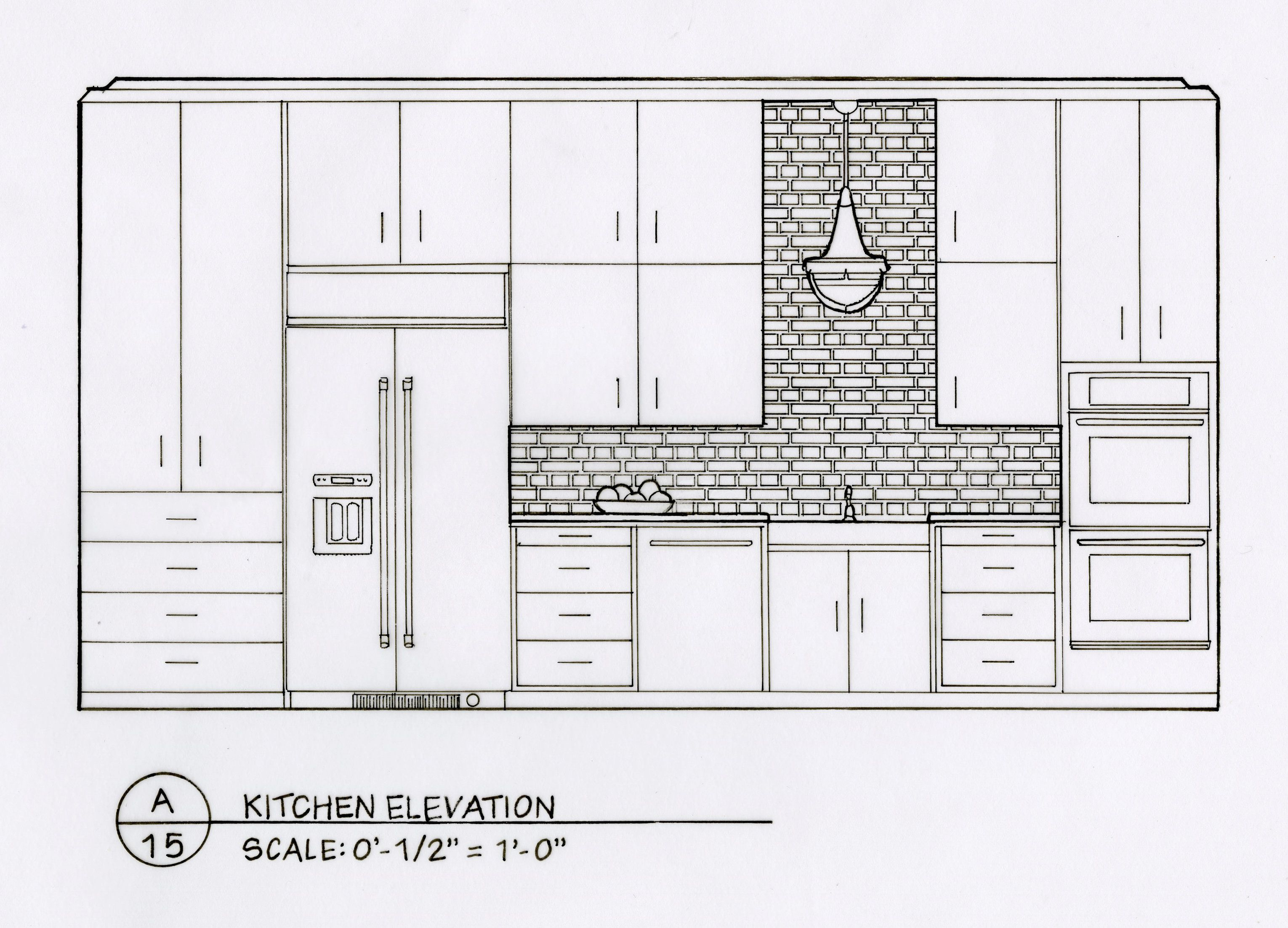 I designed and hand drafted these spaces for a residential design ...
