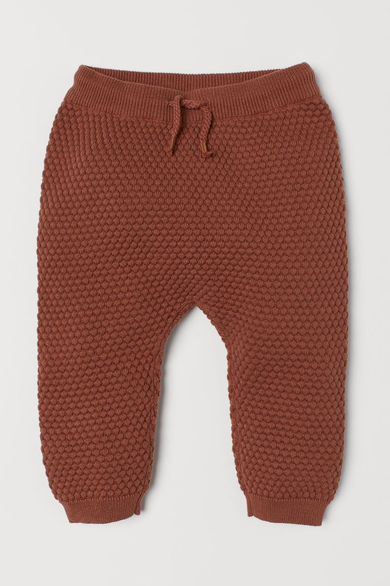 Textured Knit Pants Brown Kids H M Us Baby Girl Pants Knit Baby Pants Minimalist Baby Clothes