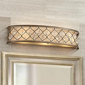 Jeweled Golden Bronze 25″ Wide Bathroom Wall Light – #P3318 | Lamps Plus