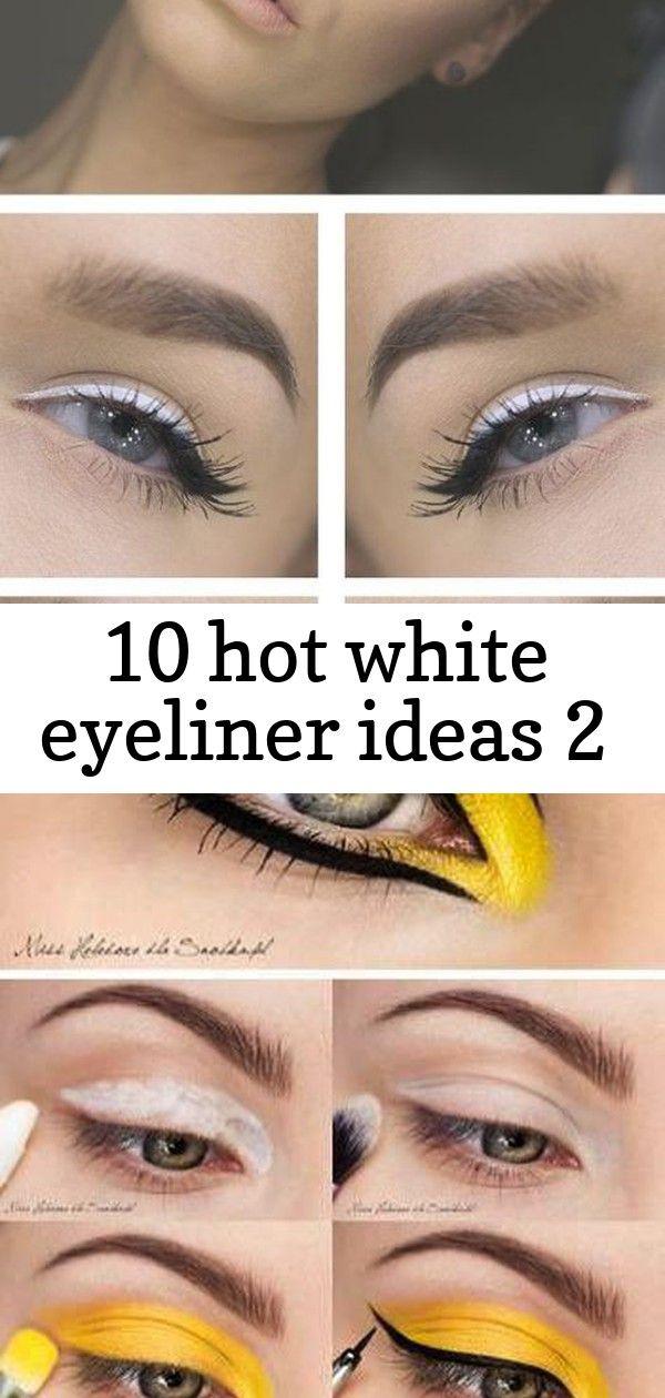 10 hot white eyeliner ideas 2 #glittereyeliner