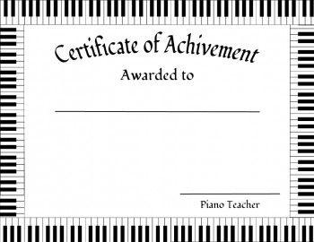 New Editable Award Certificate Teaching Music Piano Teacher Piano Teaching