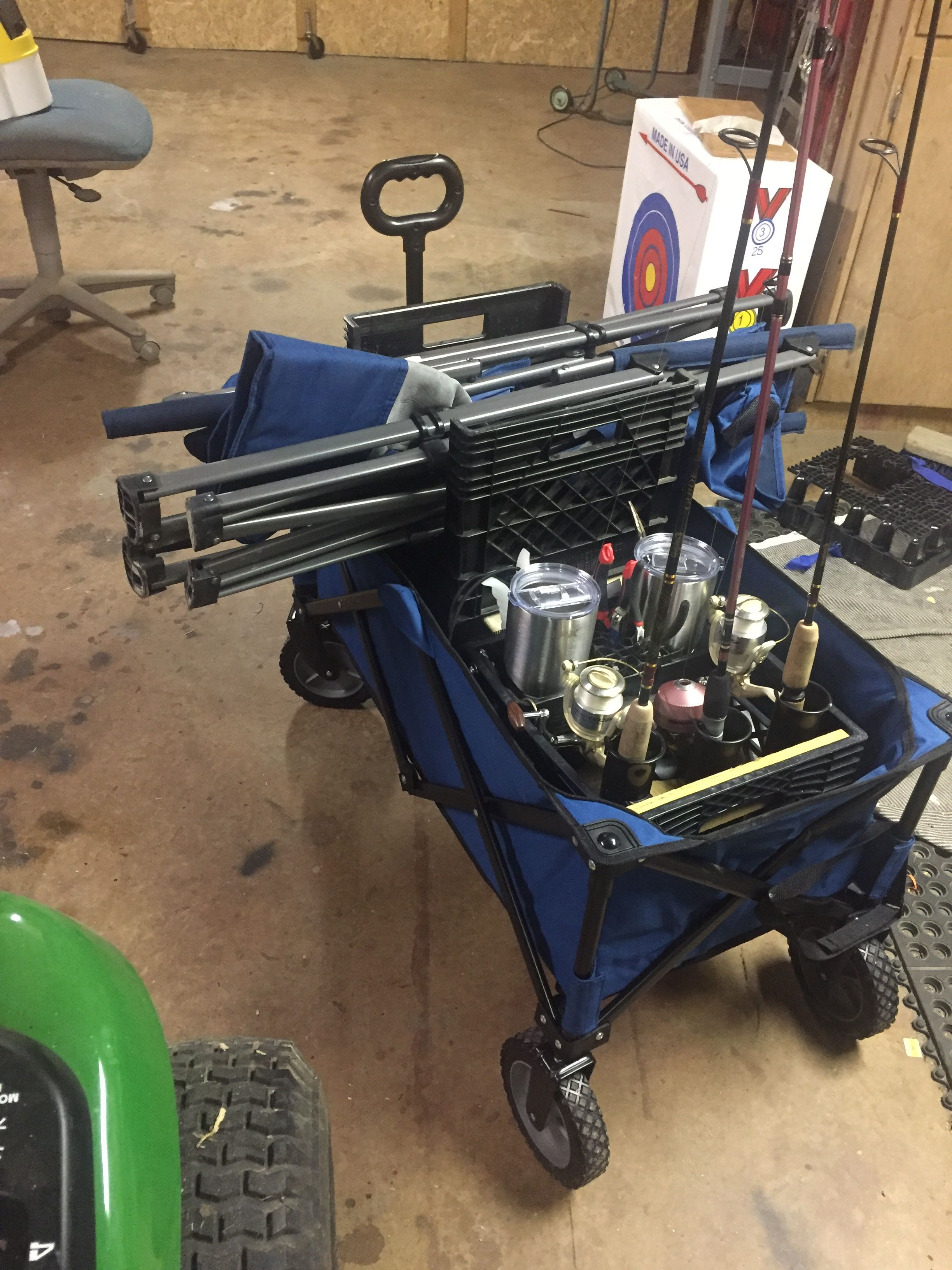 Fishing Chair Hand Wheel Swivel On Casters Folding Pier Cart Pinterest