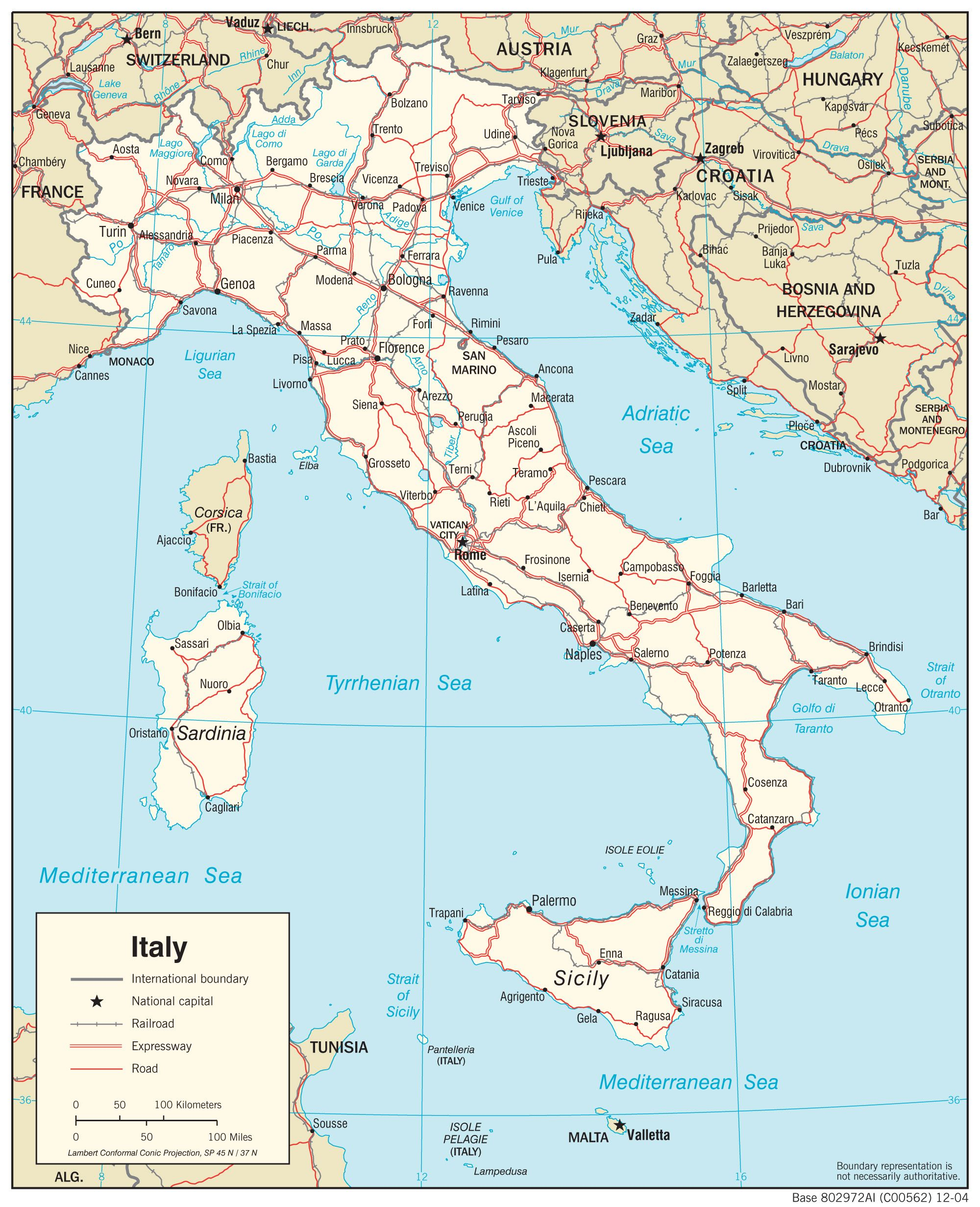 Large Map Of Italy.Map Of Italy Free Large Images Italy Map Italy Map Italy