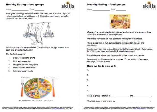 Reading Restaurant Menus Life Skills Worksheets {Cut & Paste ...