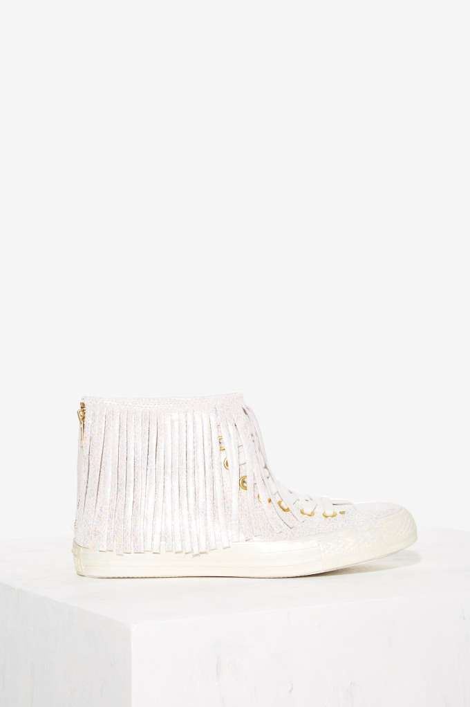 fde0d86e6012b2 Converse All Star Fringe High-Top Leather Sneaker - Iridescent - Sneakers