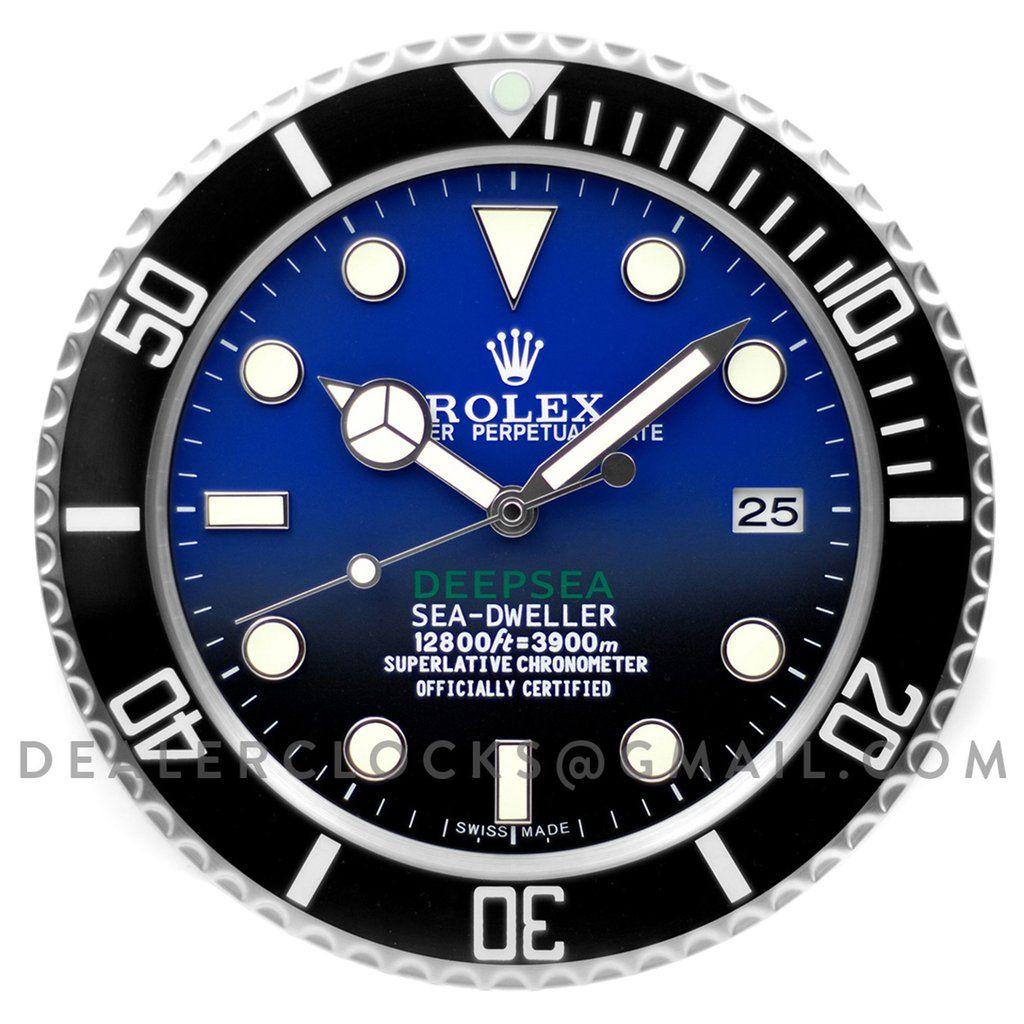Sea Dweller Deepsea D Blue Steel In 2019 Wall Clock Sea