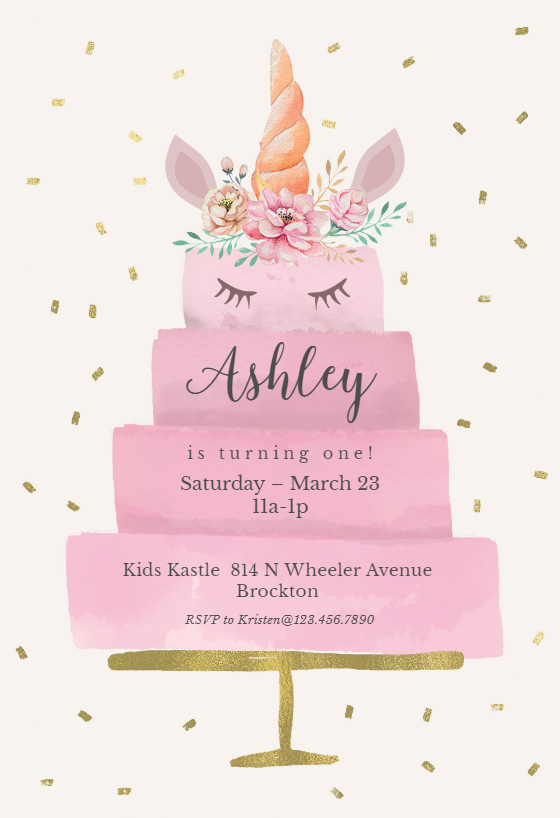 Free Online Unicorn Invitation Maker