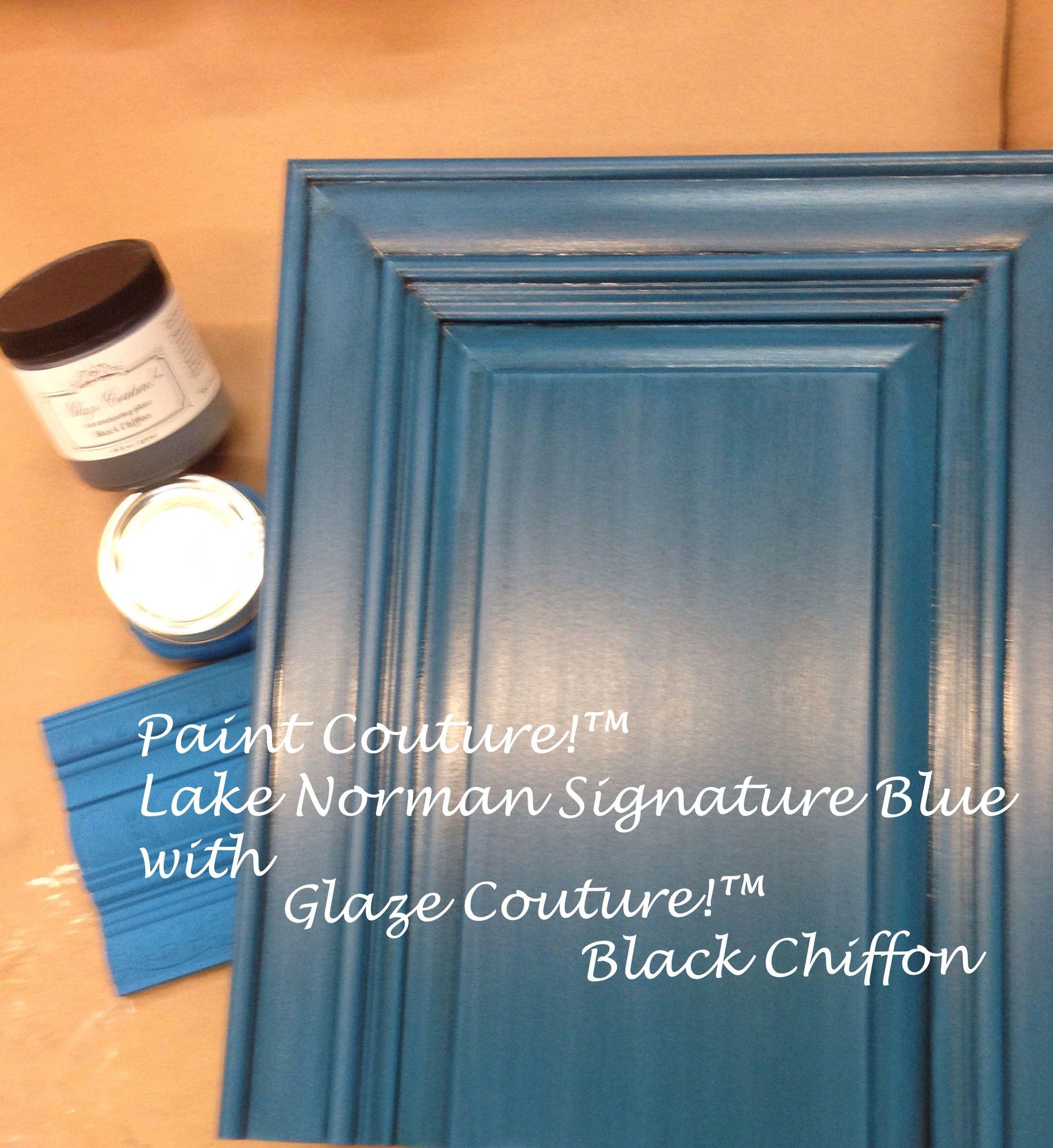 Lake Norman Signature Blue With Black Chiffon Glaze From
