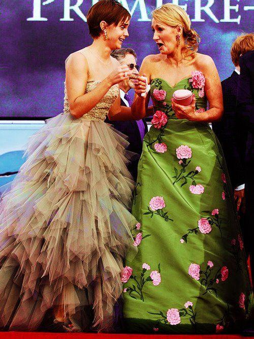 My two favorite women in the world. Emma Watson and JK Rowling