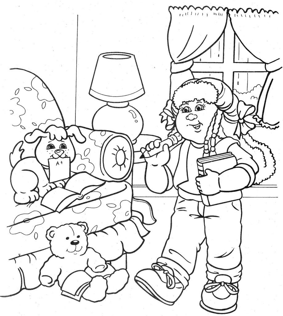 cabbage patch kids coloring pages  Cabbage patch kids coloring