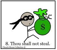 Thou Shalt Not Steal Sunday School Lesson | Autism & Sacraments ...