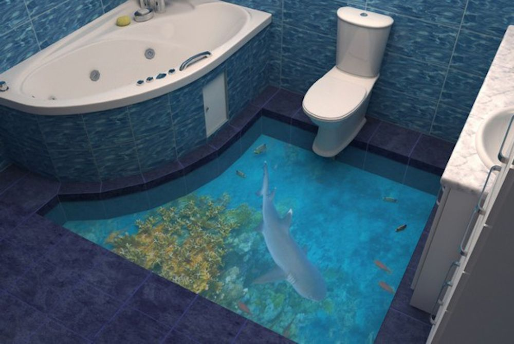 17 Beautiful 3d Flooring Designs Ideas Badezimmerboden 3d Bodenbelag Bodengestaltung