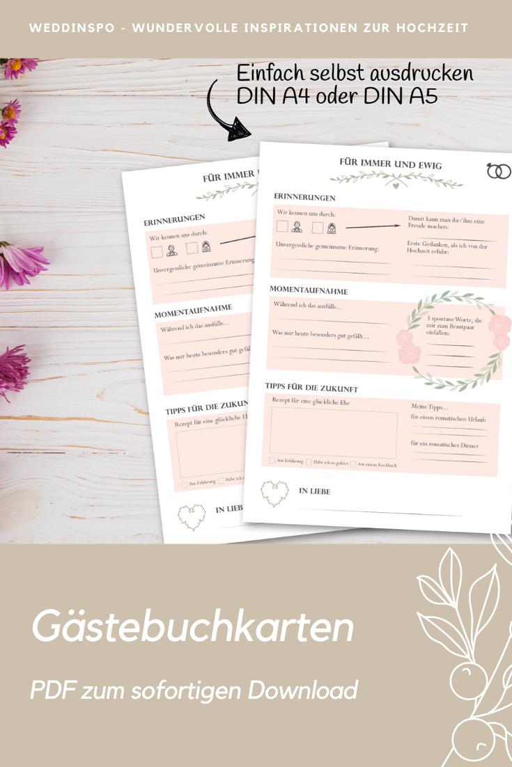 Tolle Alternative Zum Klassischen Gastebuch Liebevoll Gestaltete Gastebuch Karten Mit Originellen Fragen Jetzt Bestellen Dow