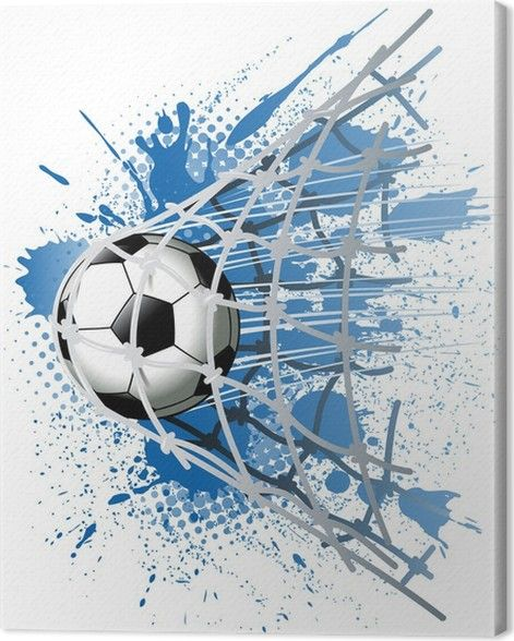 Goal Canvas Print Pixers We Live To Change Soccer Art Football Art Soccer Drawing