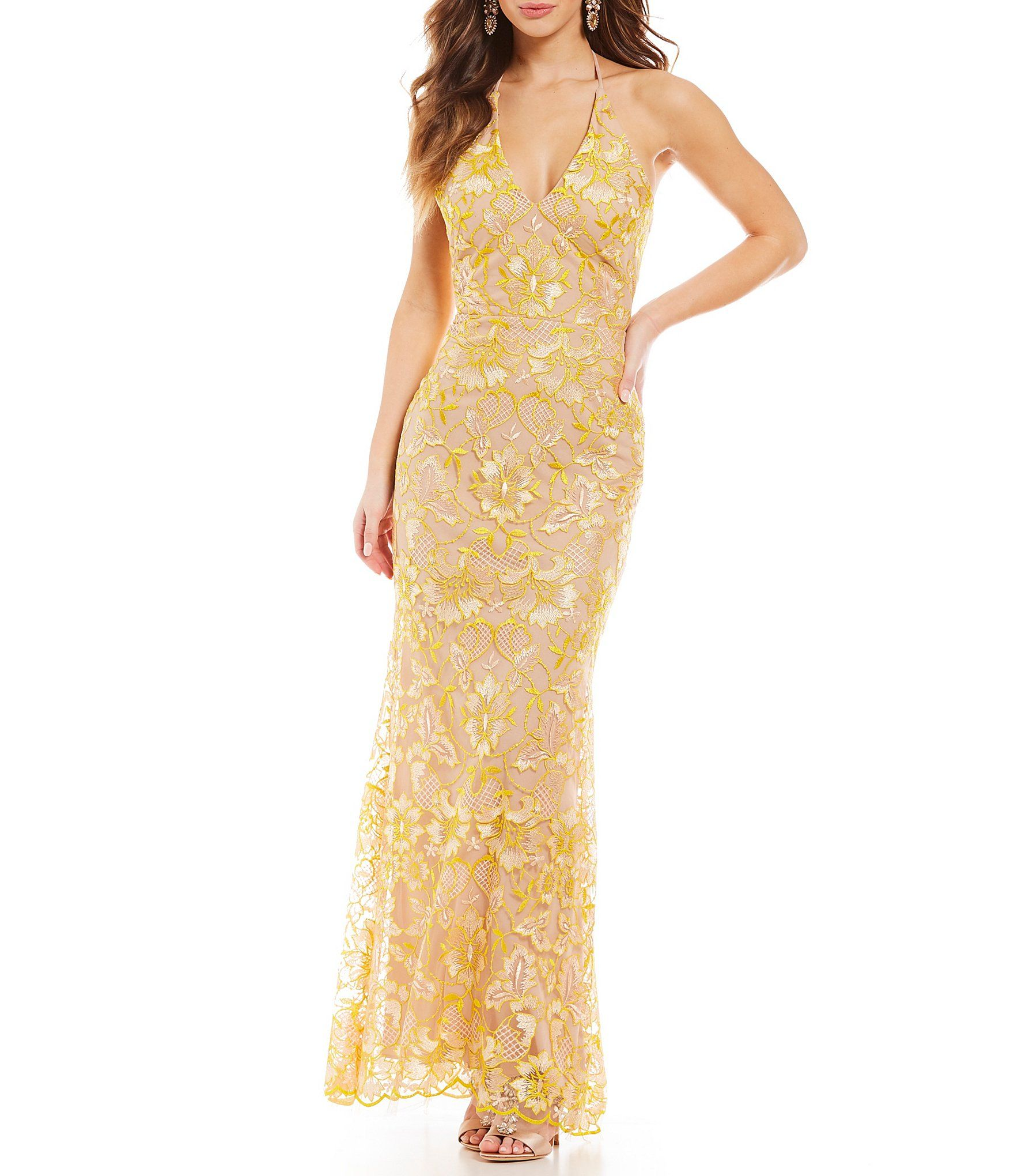 Shop for GB Social Halter Neck Floral Lace Gown at Dillards.com. Visit  Dillards.com to find clothing 0bb0a0778