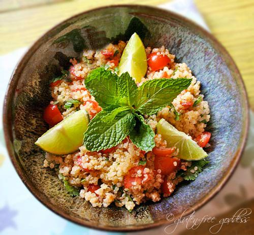Gluten-Free Goddess Quinoa Salad with Lime and Mint