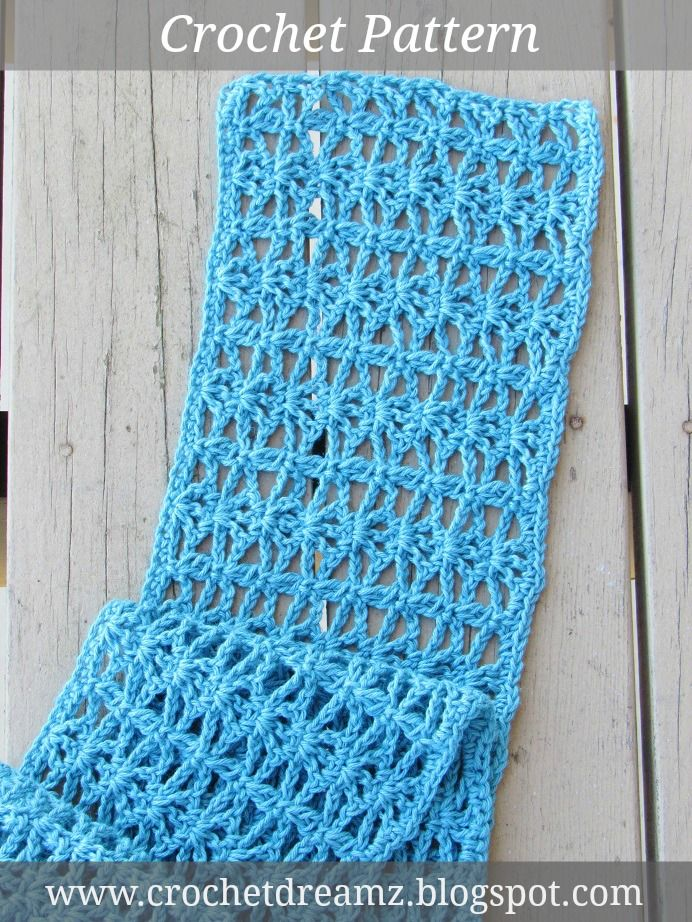 Lacy Scarf Crochet Pattern for Spring. Visit my blog to access the ...