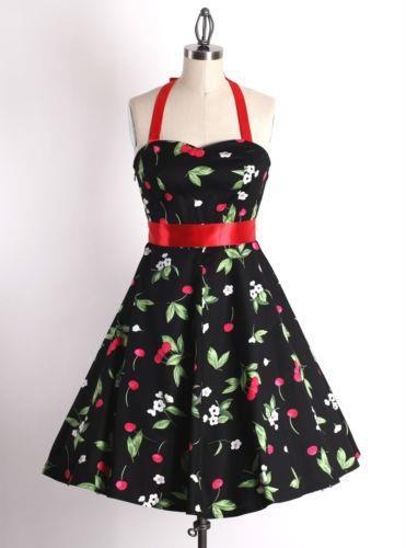 vestido pin up de cerejinhas <3