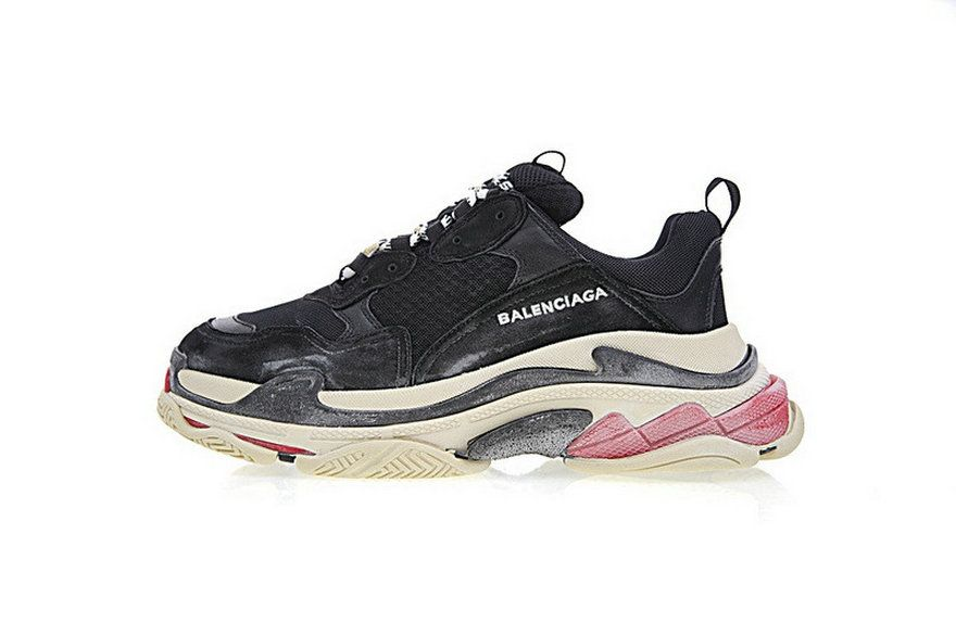 4d053ce85a3a Balenciaga Triple S Black Red 2018 Factory Authentic Shoe