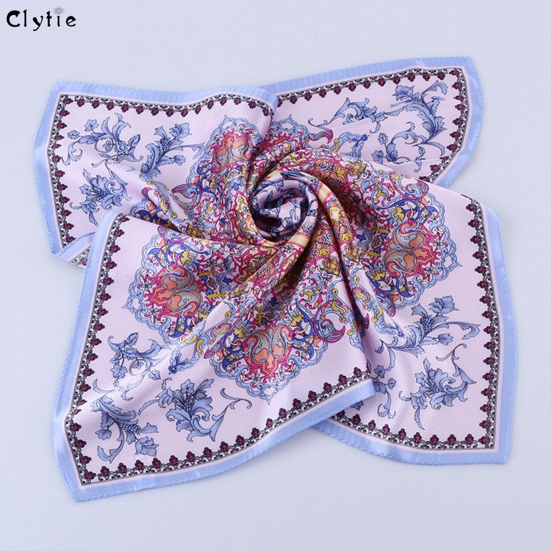 Click To Buy Clytie Women 100 Silk Square Scarves Luxury Women Pure Silk Scarf Women High Fashion Wholes Ladies Silk Scarves Womens Scarves Petite Scarf