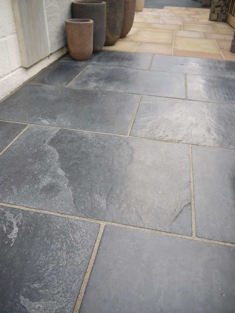 Cosa Nostra Black Brushed Limestone Floor Tiles Natural Stone
