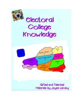 Electoral College Map Worksheet Teaching Social Studies