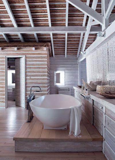 Décoration Intérieur De Maison En Photos 2018 u2013 Salle de bains avec - deco maison avec poutre