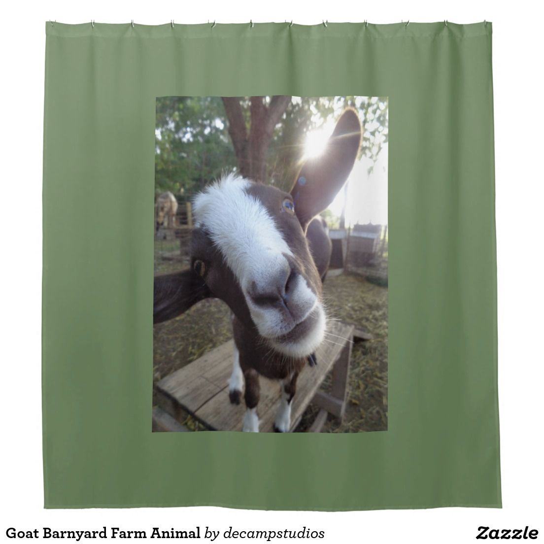 Goat Barnyard Farm Animal Shower Curtain Zazzle Com With Images
