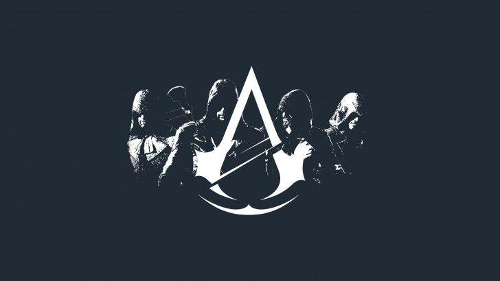 T-shirt Assassin/'s Creed Unity Logo Nero