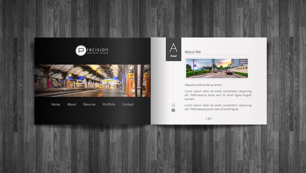 Precision webdesign template Professional wordpress