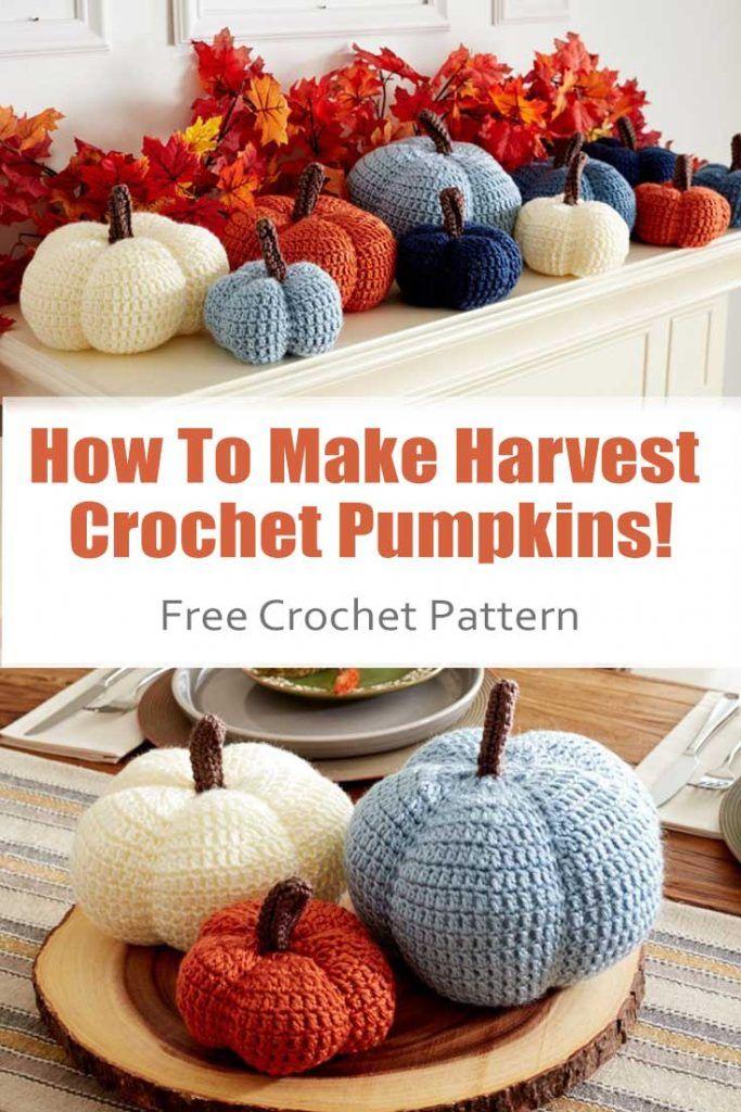 how to make harvest crochet pumpkins  easy way