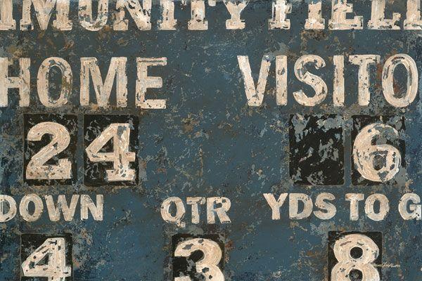 Vintage Blue Football Scoreboard Canvas Wall Art | Canvas walls ...