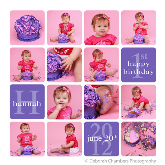 Cake Smash Template, Collage Template, Storyboard Template