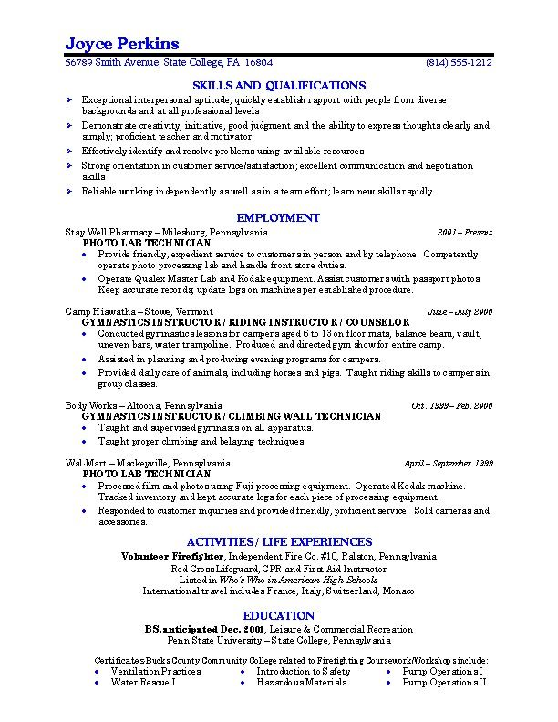 school students resume job accomplishments examples professional - college student resume format