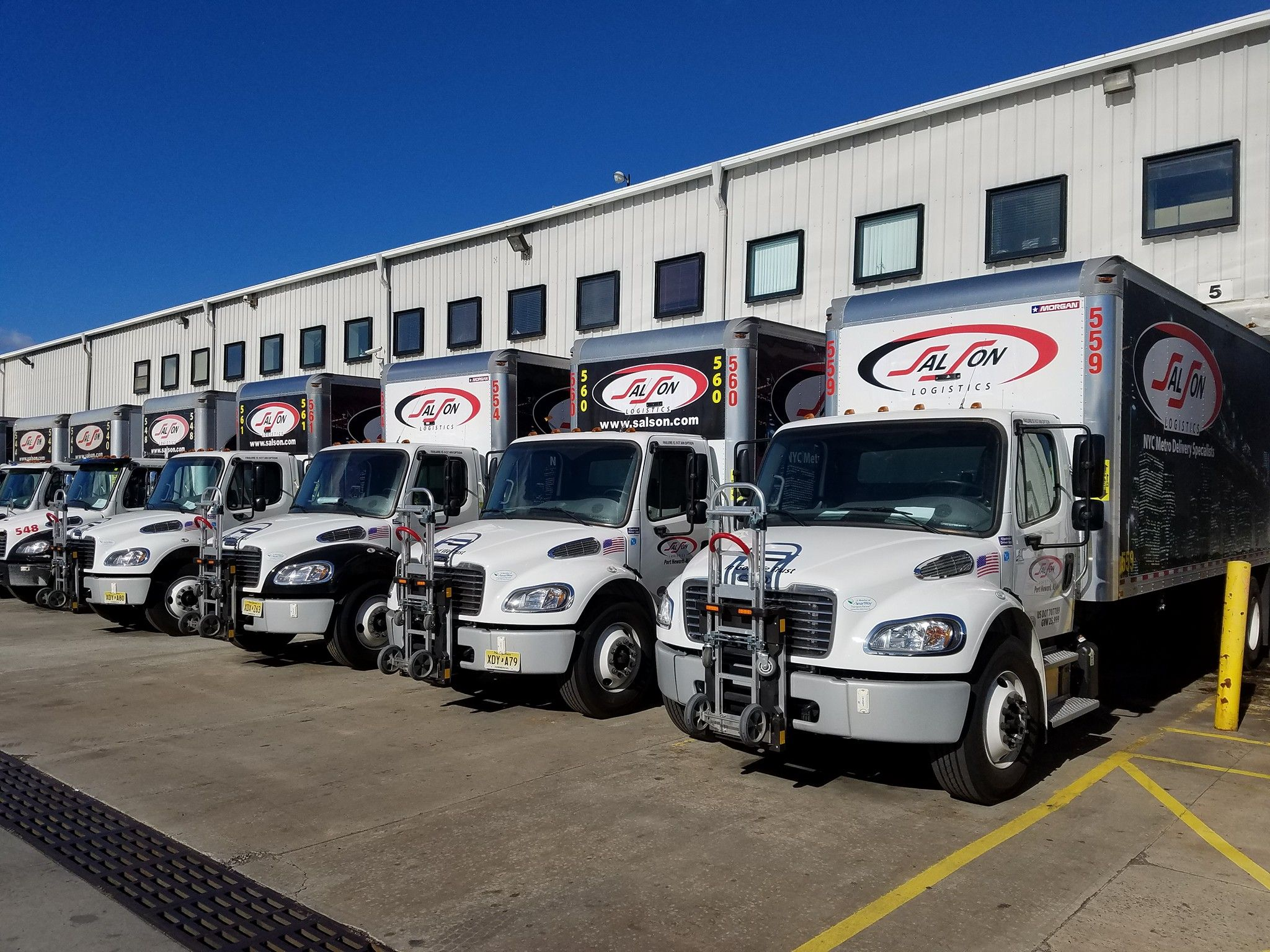 Salson Logistics Located In Port Newark New Jersey Selects B P Manufacturing S B P Liberator Senior Convertible Two Position Platform Hand Trucks And Adesivos