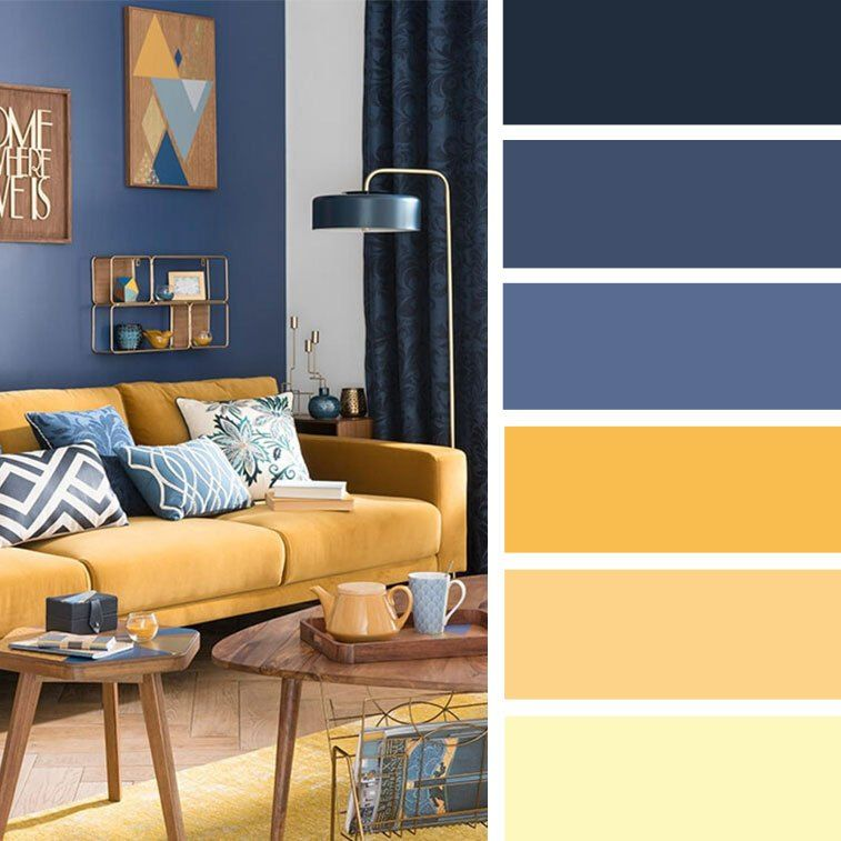 Best Decor Palette Blue Yellow Google Search Living Room 400 x 300