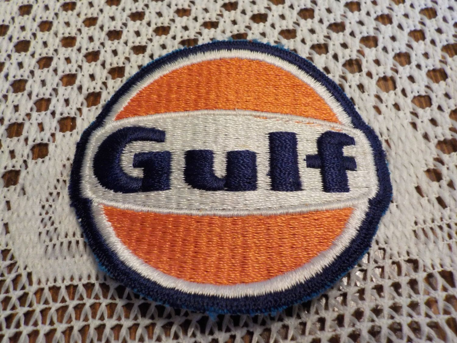 Gulf oil gas applique patch crest by louisandrileys on etsy