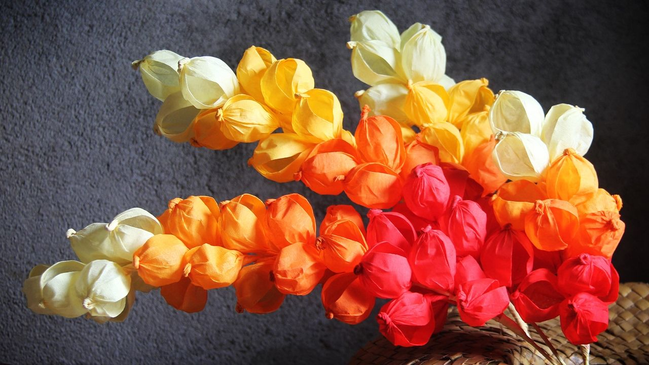 Fancy Crepe Paper Orchid Flower Youtube Flower Pinterest