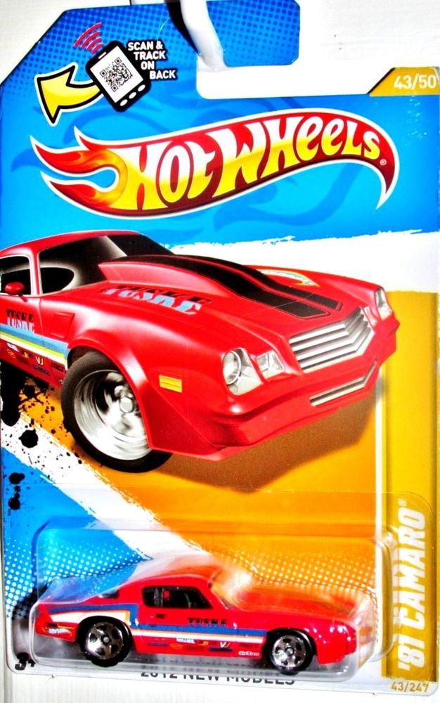 1981 Chevy Camaro Hot Wheels 2012 New Models 43 50 Red Hotwheels