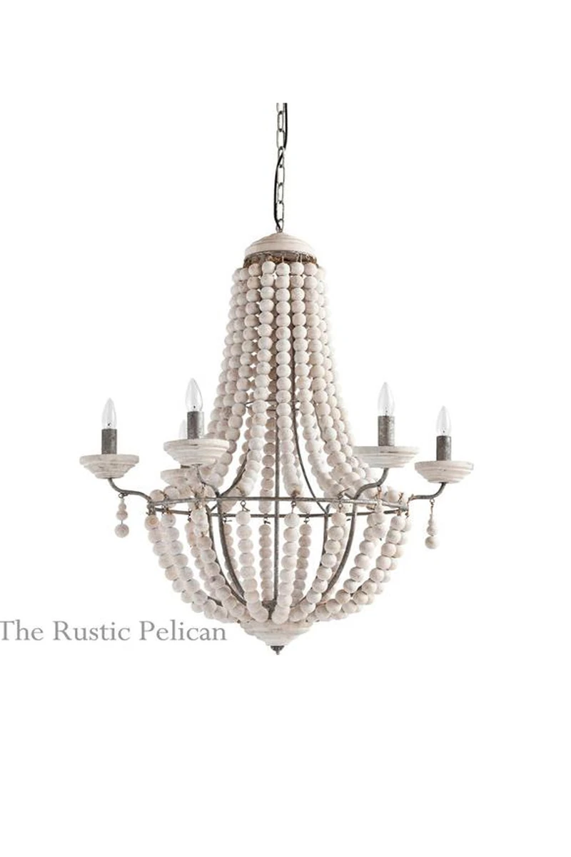 You'll love this large beaded hanging chandelier! It holds