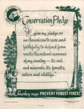 Smokey the Bear (Conservation Pledge, Flip side of Smokey the Bear Song) Words and Music by Steve Nelson and Jack Rollins U.S. Department of...