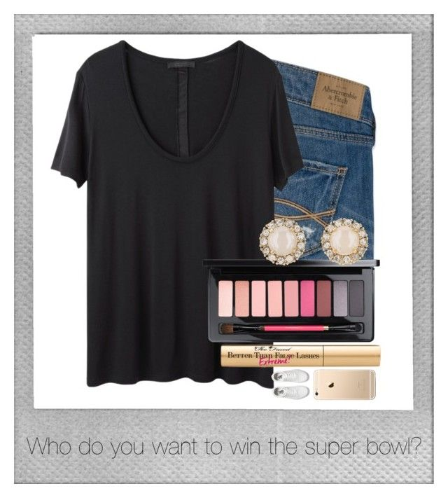 """""""Untitled #2053"""" by laurenatria11 ❤ liked on Polyvore featuring Abercrombie & Fitch, The Row, MAC Cosmetics, Too Faced Cosmetics, Kate Spade, Vans and Polaroid"""