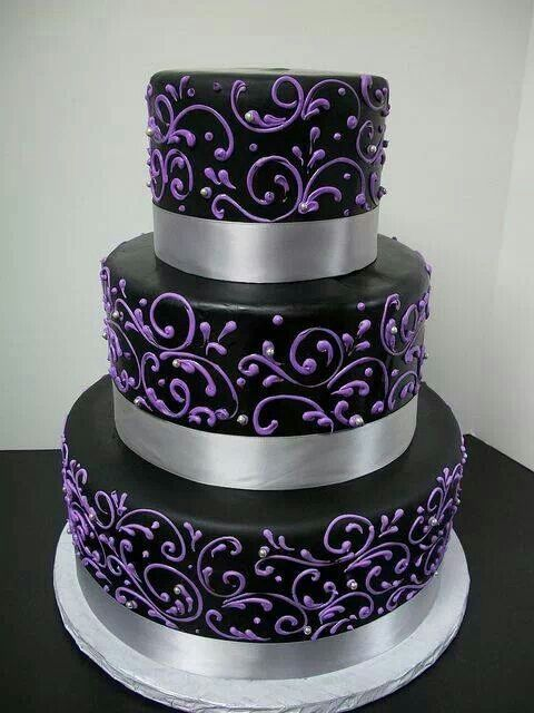 black and silver wedding cake ideas purple black and silver wedding cake cakes ideas 11828