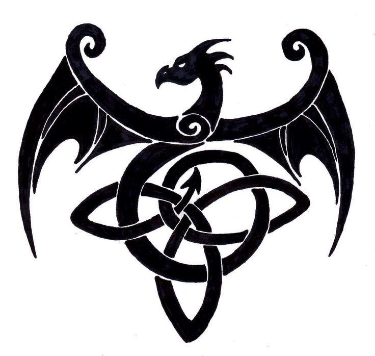 simple celtic dragons - Google Search | Celtic dragon ...