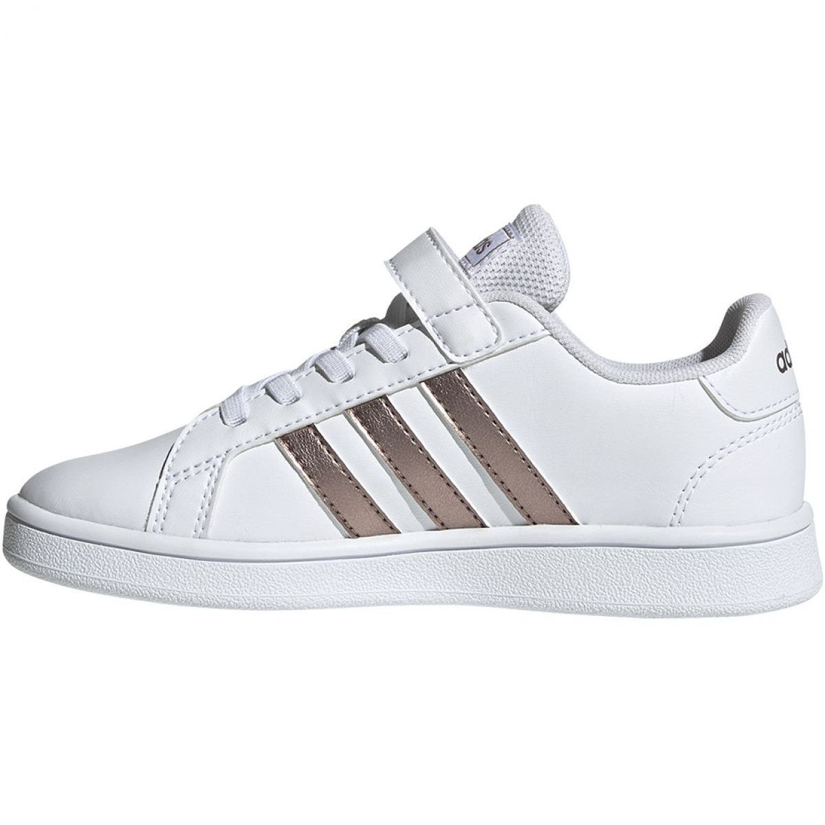Adidas Grand Court C Jr Ef0107 Shoes White Adidas Sports Shoes Adidas Shoes