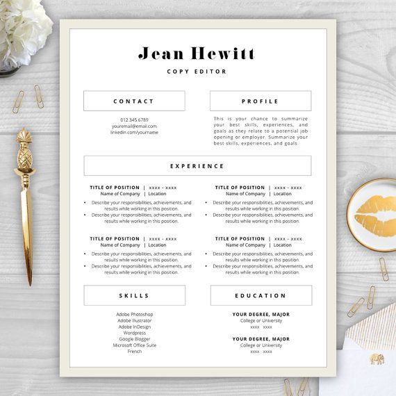 Completely transform your résumé for $15 with a professionally - menu templates for word