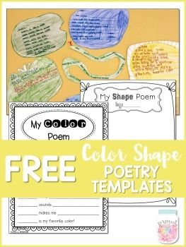 color shape poetry writing templates poetry unit pinterest