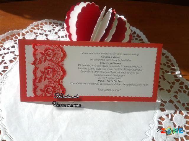 Invitatie cu dantela Petrosani