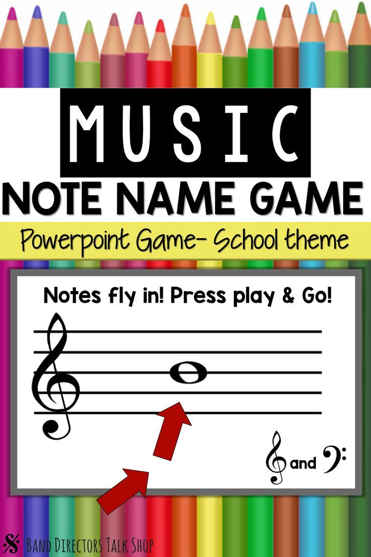 Back to School Music Activities- Animated Note Name Music Game ...