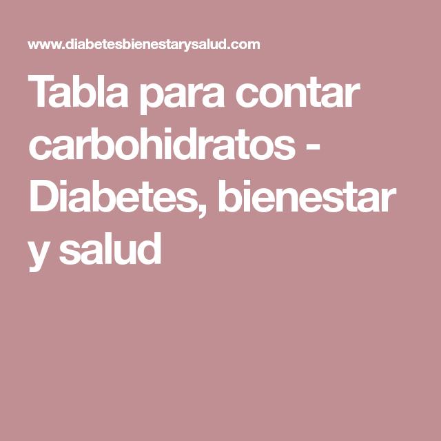 tabla de diabetes de carbohidratos